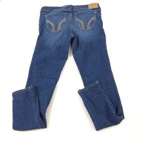 Hollister Juniors Distressed Blue Jeans 5